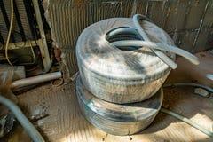 Tuyau en plastique de l'électricité photo libre de droits
