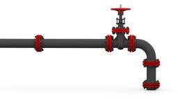 Tuyau et valve verts Images libres de droits