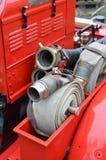 Tuyau pré 1960 de l'eau de camion de pompiers Images libres de droits