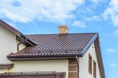 Tuyau sur le toit photo libre de droits