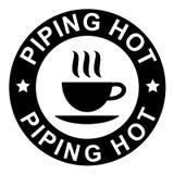 tuyauterie chaude de café Images libres de droits
