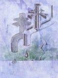 Tuyauterie défectueuse Image libre de droits