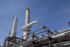 Tuyauterie d'usine de compresseur à gaz images libres de droits
