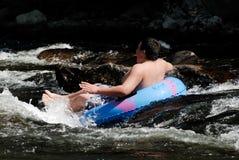 Tuyauterie de fleuve Images libres de droits