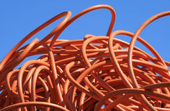 Tuyauterie orange Image stock