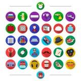 Tuyauterie, outils, accessoires et toute autre icône de Web dans le style de bande dessinée Papillon, sac à dos, équipement, icôn Images libres de droits