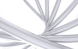 Tuyaux coudés de chrome Image stock
