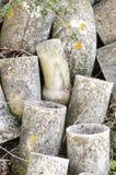 Tuyaux d'amiante abandonnés Photo stock