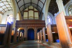 Tuyaux d'organe dans l'église historique photos libres de droits