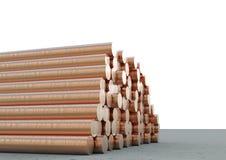 Tuyaux de cuivre Image stock