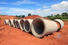Tuyaux de drainage Photographie stock