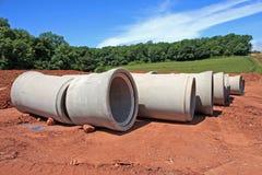 Tuyaux de drainage Photos libres de droits