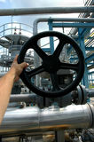Tuyaux de gaz et soupapes de sûreté Photographie stock libre de droits