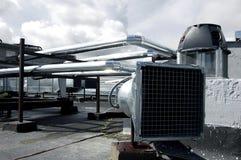 Tuyaux de groupe de climatisation Images libres de droits
