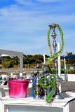 Tuyaux de Hookal dans la marina d'Albufeira, Portugal Photographie stock