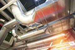Tuyaux de ventilation d'état industriel d'air Images libres de droits