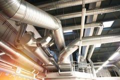 Tuyaux de ventilation d'état industriel d'air Photo libre de droits