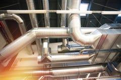 Tuyaux de ventilation d'état industriel d'air Photos libres de droits
