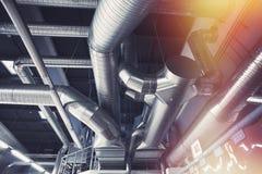 Tuyaux de ventilation d'état industriel d'air Image libre de droits