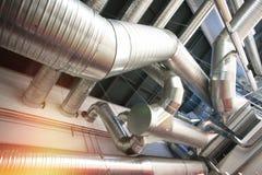 Tuyaux de ventilation d'état industriel d'air Images stock