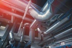Tuyaux et conduits de ventilation Photographie stock