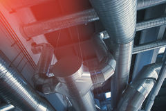 Tuyaux et conduits de ventilation Photos stock