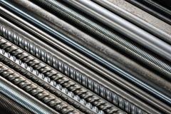 Tuyaux et tiges en métal photo libre de droits