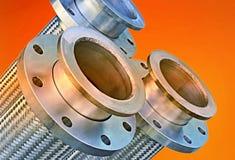 Tuyaux flexibles ondulés en métal d'acier inoxydable Images stock