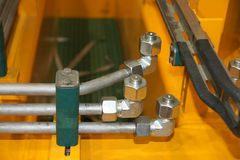 Tuyaux hydrauliques Photo stock