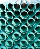 Tuyaux lumineux de PVC de bleu Images stock
