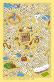 Tuyaux Maze Game Images stock