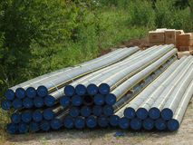 Tuyaux naturels de gazoduc de PolyFlex photo libre de droits