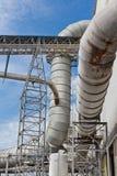 Tuyaux pour le système de purification d'air image stock