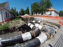 Tuyaux souterrains isolés Image libre de droits