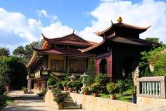 Tuyen潜逃佛教徒修道院,大叻,越南 库存照片