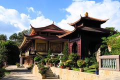 Tuyen Lam Buddhist Monastery, Dalat, Vietnam Stock Photo
