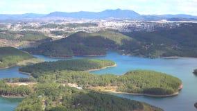 Tuyen Lam sjö på mounttainsikt, Da-Latstad, Lam Dong landskap, Vietnam arkivfilmer