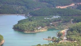 Tuyen Zwianie jezioro na mounttain widoku, Da Lat miasta, zwiania Dong prowincja, Wietnam zbiory