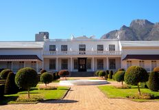 Tuynhuys - Official residence of the South African state president. Official residence of the South African state president stock photos