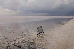 Tuz Golu (盐湖),中部安那托利亚地区,土耳其 免版税库存图片