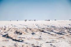 Tuz golu. Panorama of tuz golu salt lake  in anatolia, Turkey, Asia Royalty Free Stock Photography