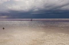 Tuz Golu, Środkowy Anatolia region, Turcja (Salt Lake) Fotografia Stock