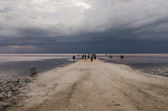 Tuz Golu (Salt Lake),  Central Anatolia Region,Turkey Stock Photography