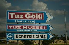 Tuz Golu (Salt Lake), Centrale Anatolia Region, Turkije Royalty-vrije Stock Afbeelding