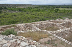 Tuzigoot国家历史文物 库存照片