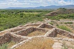 Tuzigoot Indische Ruïnes Royalty-vrije Stock Fotografie
