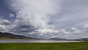 """Tuzkol sjö†""""det döda havet av Kasakhstan Tid varvar arkivfilmer"""