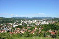 Tuzla panoramautsikt Arkivfoton