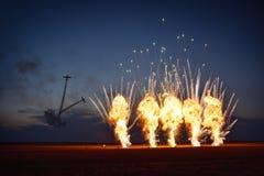 TUZLA RUMUNIA, LIPIEC, - 02: piloci wykonuje przy Tuzla airshow Aer Zdjęcia Stock