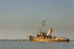 Tuzla shipwreck Stock Image